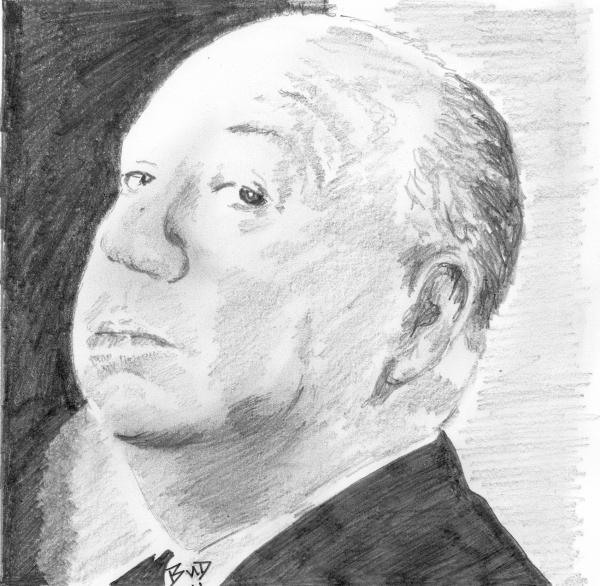 Alfred Hitchcock par bigbudmeg